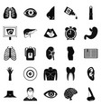 scan icons set simple style vector image vector image