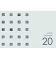 Set of calendar icons vector image