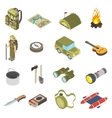 Set Of Hiking and Camping Icons vector image vector image