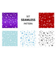 set snowflake pattern vector image vector image