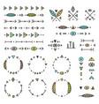 set tribal elements vector image