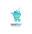 shopping cart logo for business company simple vector image