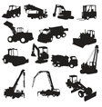silhouette construction machines vector image