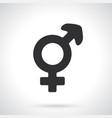 silhouette transgender symbol vector image vector image