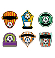 Soccer Football Badges and Emblems vector image