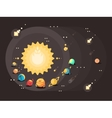 Solar system flat design vector image vector image