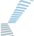 stair on white background vector image