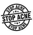 stop acne round grunge black stamp vector image vector image