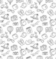 Summer vacation sketch doodle seamless pattern vector image vector image