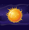 sun in space background vector image