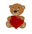 teddy with tie teddy bear vector image vector image