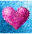Triangle heart vector image vector image