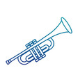 trumpet musical instrument isolated icon vector image vector image