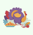 turkey bird flat isolated vector image vector image