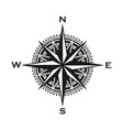 vintage navigation compass sign vector image vector image
