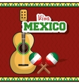 viva mexico instrument musical isolated poster vector image vector image