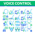 voice control collection elements icons set vector image