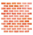 Watercolor brick wall vector image