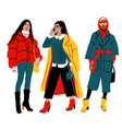 women s winter street style detailed female vector image