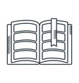 handdraw icon book vector image