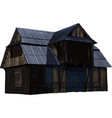 abandoned wooden house vector image vector image