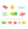 abstract colorful gradient shape collection vector image vector image