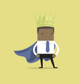 african businessman wearing a crown vector image vector image