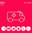 ambulance line icon vector image vector image