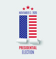 american presidential election abstract brochure vector image vector image