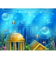 Atlantis ruins - background vector image vector image