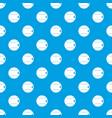 baseball ball pattern seamless blue vector image vector image