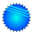 Big blue button vector image