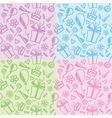 birthday patterns vector image vector image
