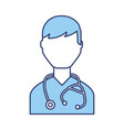 blue doctor character cartoon vector image vector image
