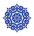 blue mandala pattern vector image