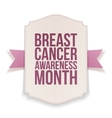 Breast Cancer Awareness Month big Banner vector image