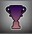 champions cup sign violet gradient icon vector image vector image