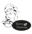 Christmas card with Santa Claus hands you a gift vector image vector image