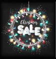 christmas lights on black background new year vector image vector image