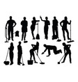 cleaning service silhouettes vector image