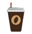 coffee drink cartoon vector image
