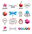 collection of logos jewelry vector image vector image