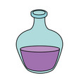 color image cartoon rounded glass bottle essential vector image vector image