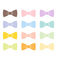 colorful bow tie isolated bowtie accessory elegant vector image vector image