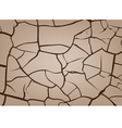 Cracked earth background vector image