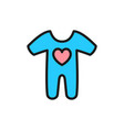 cute baby creepers children wear flat color icon vector image vector image