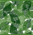 cute floral seamless pattern tropical leaves vector image vector image