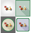 delivery flat icons 08 vector image vector image