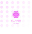 elegant luxury flower line pattern logo design vector image vector image