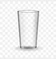 empty drinking glass cup vector image
